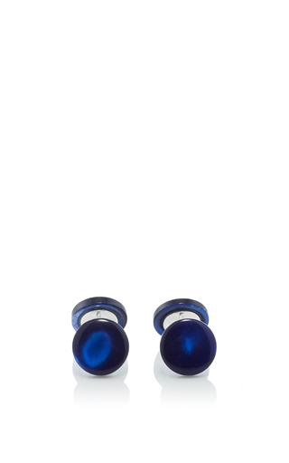 Medium samuel gassmann blue mother of pearl cufflinks