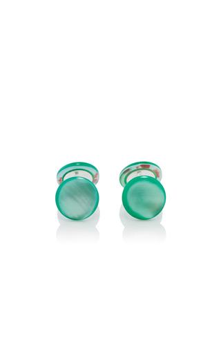 Medium samuel gassmann green mother of pearl cufflinks 3