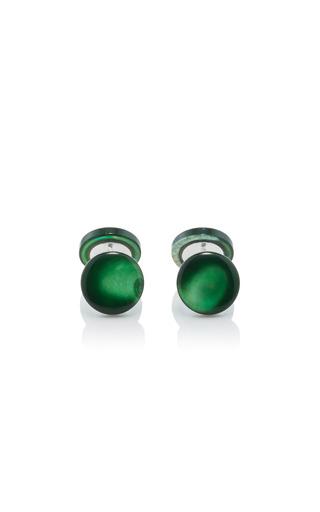 Medium samuel gassmann green mother of pearl cufflinks 5