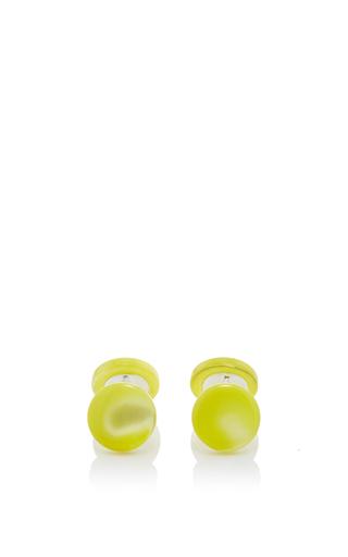 Medium samuel gassmann yellow mother of pearl cufflinks 6