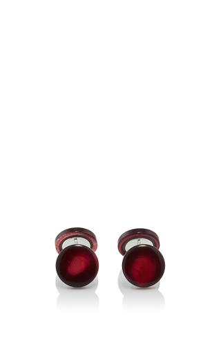 Medium samuel gassmann red mother of pearl cufflinks 8
