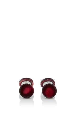 Medium samuel gassmann red mother of pearl cufflinks 8