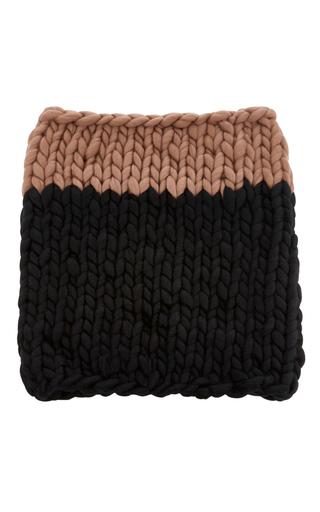 Medium mischa lampert black large knit snood