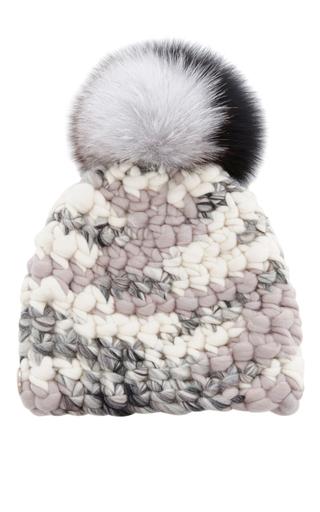 Medium mischa lampert light grey melange knit beanie
