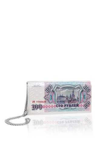 Medium preciously paris white the russia clutch