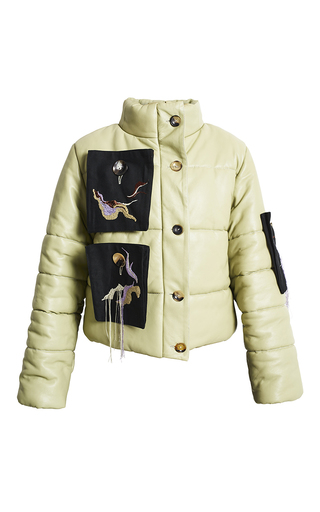 Medium freya dalsjo  2 olive embroidery duvet jacket