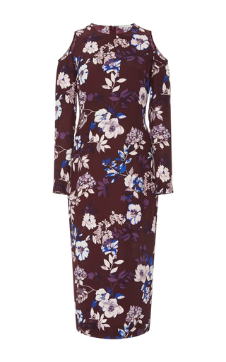 Medium piamita floral josephine cutout midi dress