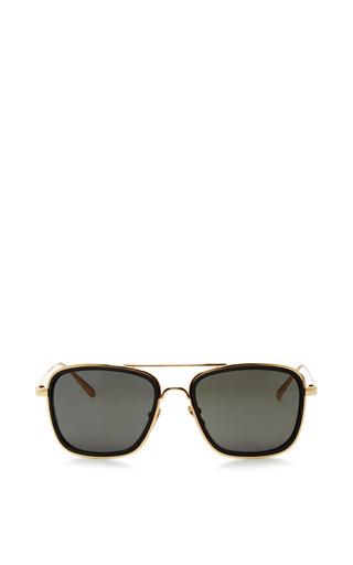 Medium linda farrow black aviator sunglasses