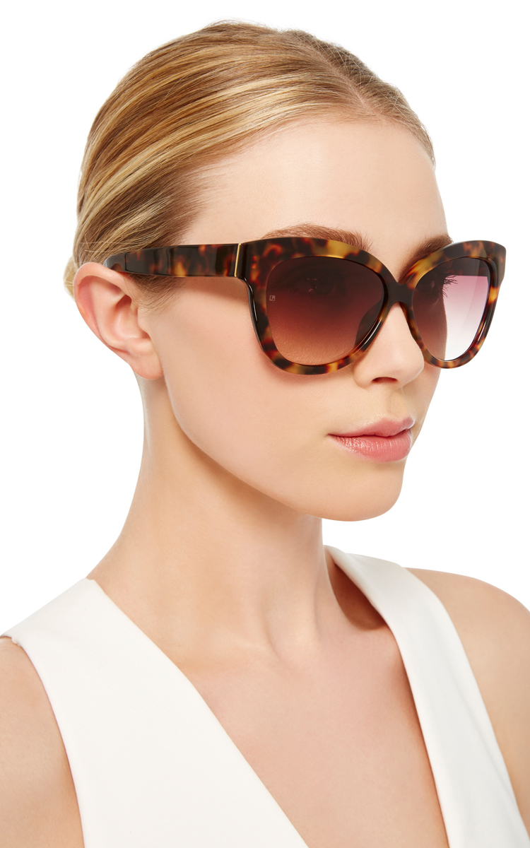 640b6116e684 Chunky Cat Eye Sunglasses by Linda Farrow