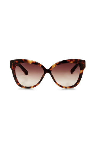 Medium linda farrow brown chunky cat eye sunglasses