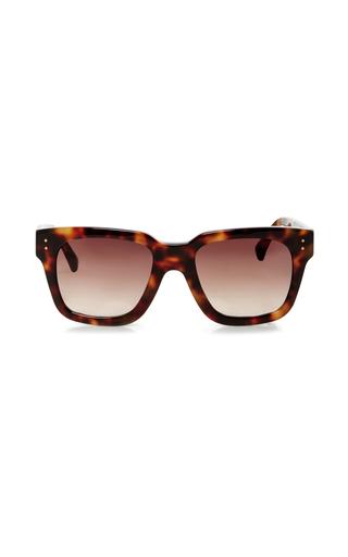 Medium linda farrow brown chunky rectangular sunglasses