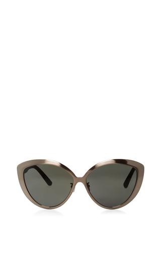 Medium linda farrow light grey silver cat eye sunglasses