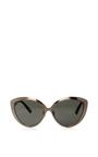 Silver Cat Eye Sunglasses by LINDA FARROW Now Available on Moda Operandi