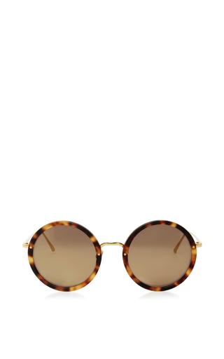 Medium linda farrow brown oversized round sunglasses