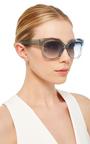 Crystal Cat Eye Sunglasses by LINDA FARROW Now Available on Moda Operandi