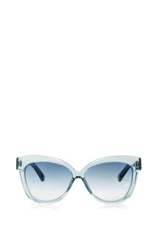 Medium linda farrow blue crystal cat eye sunglasses