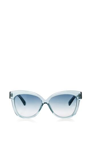 Medium linda farrow blue crystal cat eye sunglasses
