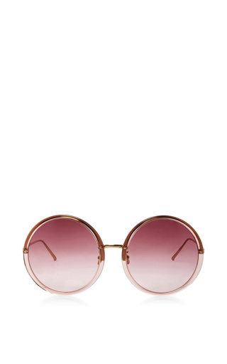 Oversized Round Sunglasses by LINDA FARROW Now Available on Moda Operandi
