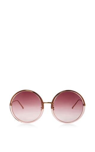 Medium linda farrow orange oversized round sunglasses 2