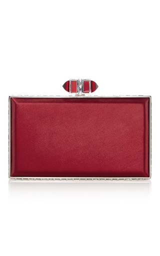 Medium judith leiber red red rectangle clutch