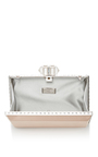 Nude Rectangle Clutch by JUDITH LEIBER COUTURE Now Available on Moda Operandi