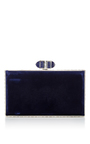Velvet Rectangle Clutch by JUDITH LEIBER COUTURE Now Available on Moda Operandi