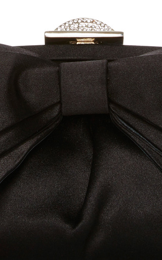 Satin Bow Clutch by JUDITH LEIBER COUTURE Now Available on Moda Operandi
