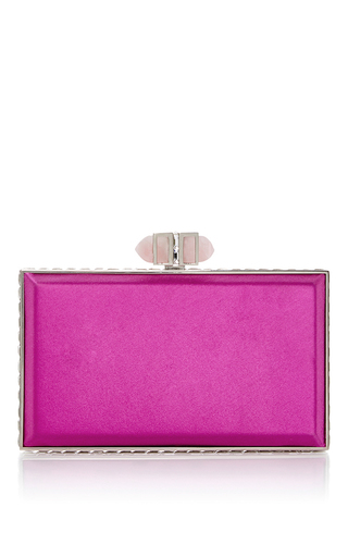 Pink Rectangle Clutch by JUDITH LEIBER COUTURE Now Available on Moda Operandi