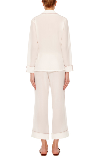 Gigi Long Sleeve Pajama Set by OLIVIA VON HALLE Now Available on Moda Operandi
