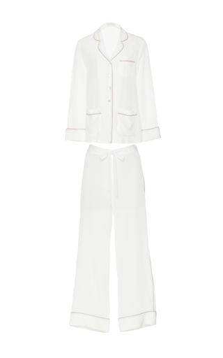 Medium olivia von halle ivory gigi long sleeve pajama set