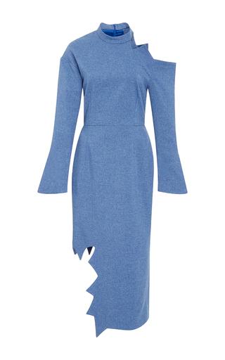 Medium tata naka blue jagged edge dress