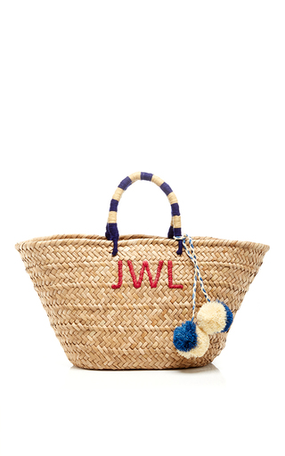 Medium kayu tan navy and camel st tropez monogram tote