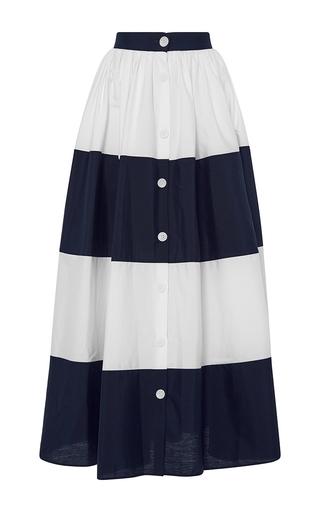 Medium mds stripes navy colorblocked ball skirt