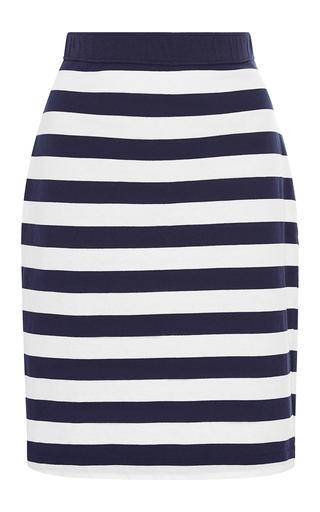 Medium mds stripes blue paley pencil skirt