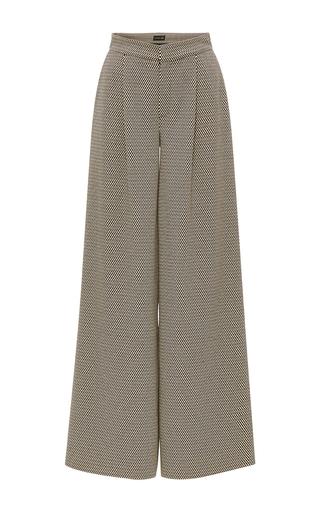 Medium kika vargas print cotton blend wide leg pants
