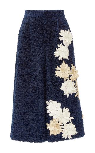 Medium kika vargas navy flower applique boucle culottes