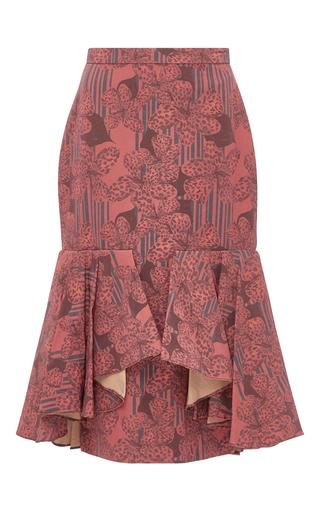 Medium kika vargas floral floral printed fluted skirt