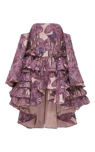 Medium kika vargas floral off the shoulder ruffled blouse