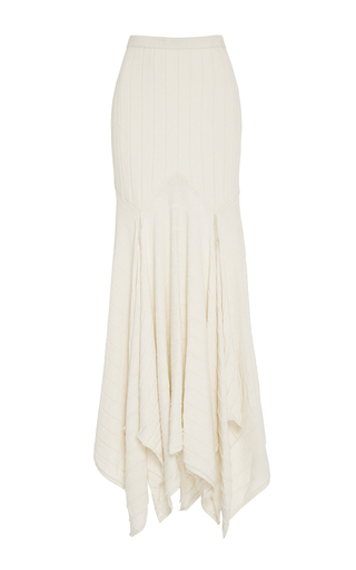 Medium kitx off white cream rib longline skirt