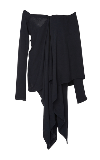 Medium kitx navy suspended poncho drape top