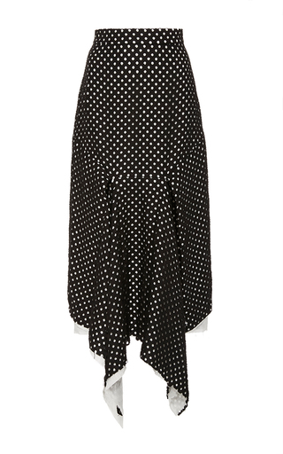 Medium kitx black layered folded squares skirt