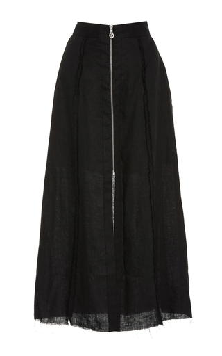 Medium kitx black zip corset lines skirt