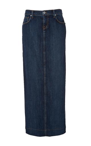 Medium baldwin dark wash kendall long denim skirt