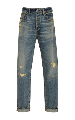 Medium citizens of humanity light wash liya distressed classic jean