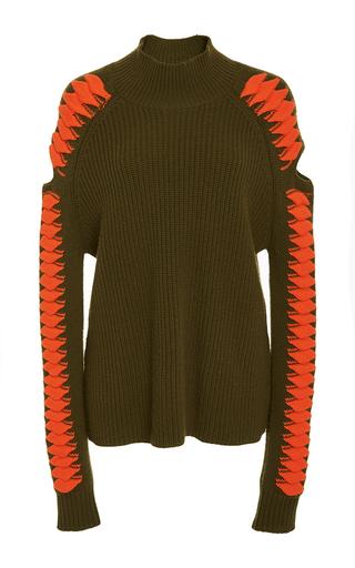 Medium zoe jordan dark green maxwell cutout sweater
