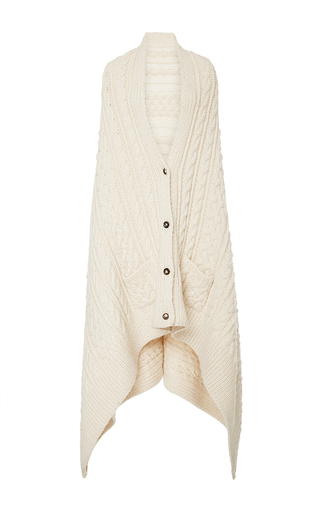 Medium m patmos ivory chainette cable blanket