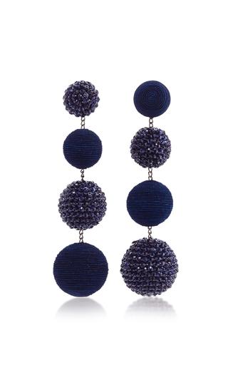 Medium rebecca de ravenel navy les bonbons eve earrings