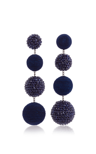 Medium rebecca de ravenel navy les bonbons eve earrings