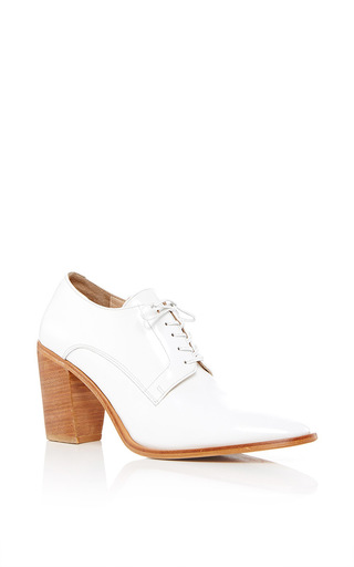 Medium maryam nassir zadeh white flavia heeled loafer