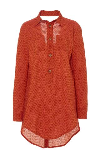 Medium jaline red gigi front placket shirt dress 3
